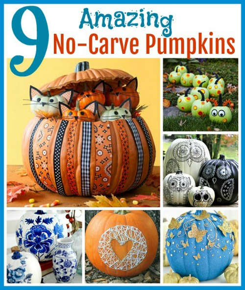 9 Amazing No-Carve Pumpkin Ideas - Suzy's Artsy-Craftsy Sitcom - HMLP 158 Feature