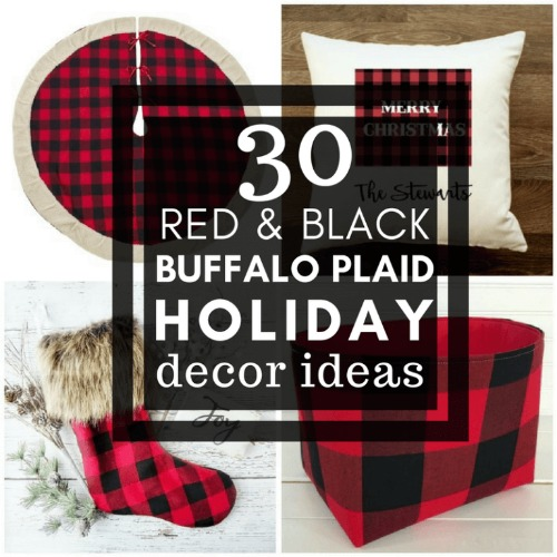 30 Red and Black Buffalo Plaid Holiday Decor Items - Twelve On Main - HMLP 161 Feature