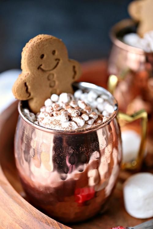 Gingerbread Hot Chocolate Recipe - Cravings of a Lunatic - HMLP 165 Feature