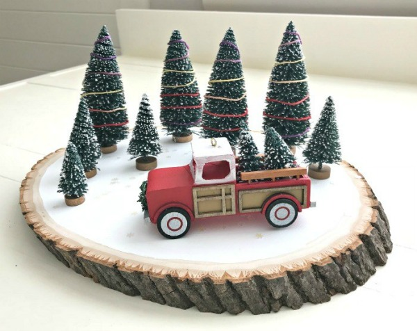 Quick and Easy Red Truck DIY Christmas Centerpiece - Abbotts At Home - HMLP 164 Feature