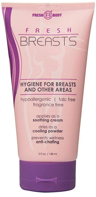 how to prevent boob sweat try fresh breast body lotion. Click to see the rest of the tips in this post