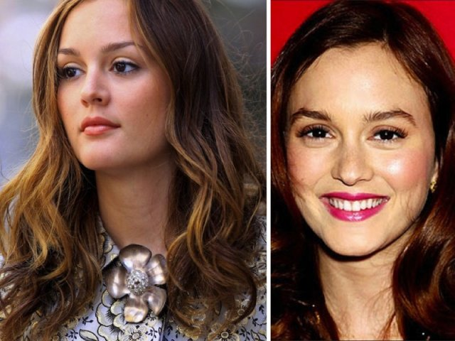 leighton meester bushy eyebrow trend before and after photos