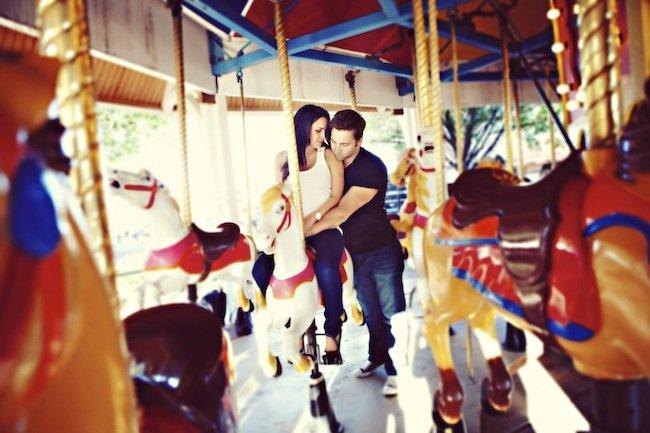 carousel engagement photos