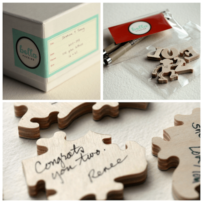 wedding puzzle guest book alternative ideas