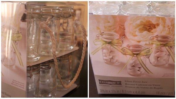 glass favor jars wedding