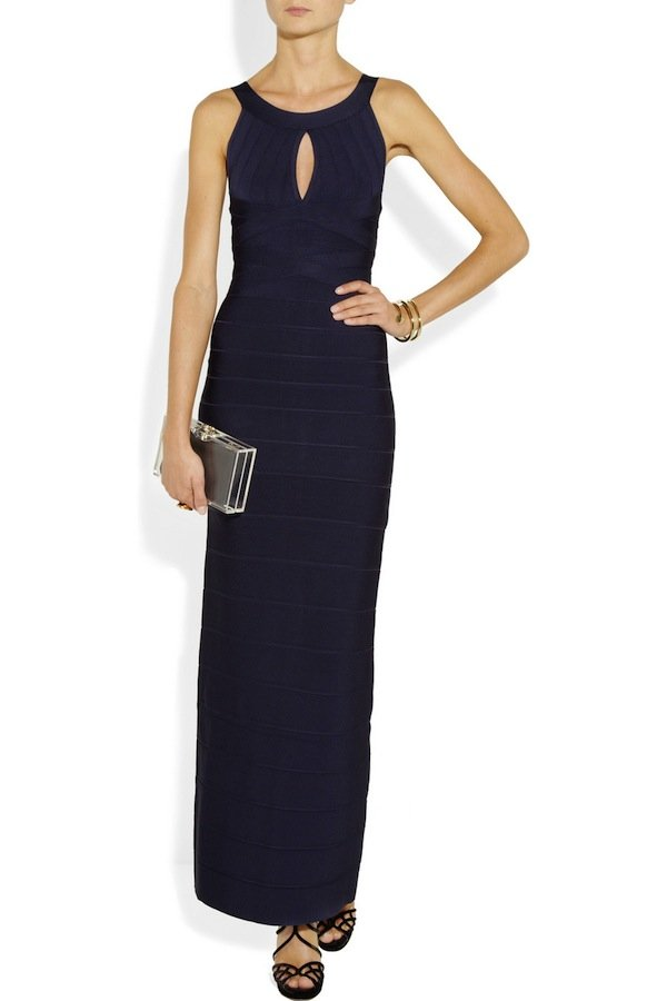 what to wear to a fall wedding herve leger bandage gown