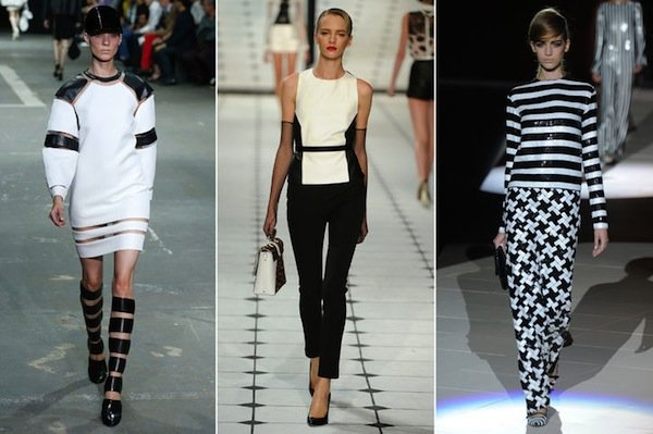 spring 2013 fashion trends black and white