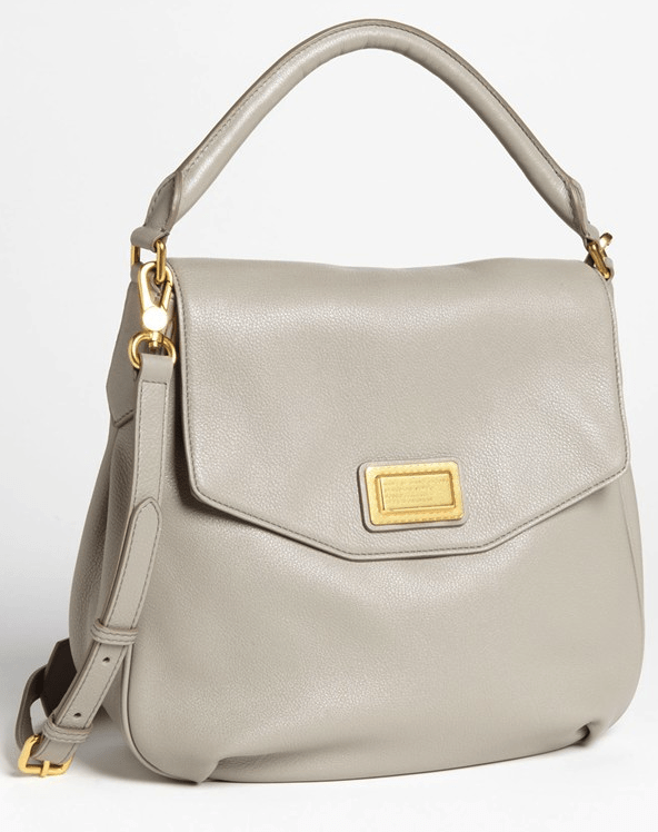 marc jacobs leather flap hobo