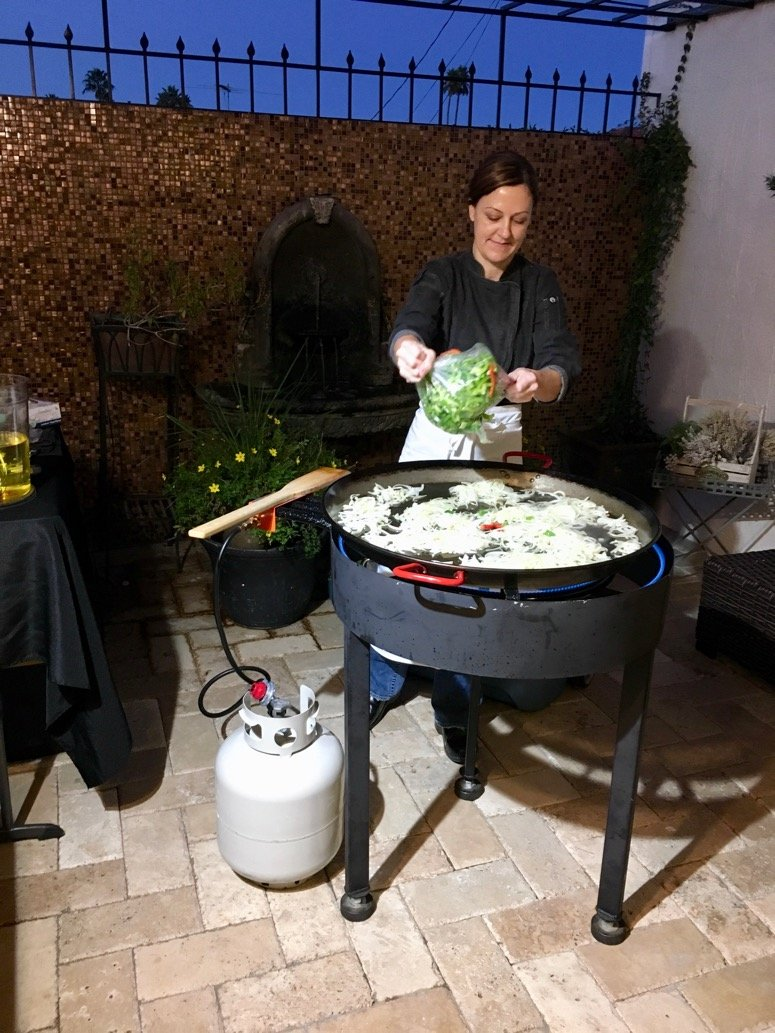 holiday entertaining idea paella catering company. Click to read even more in the post