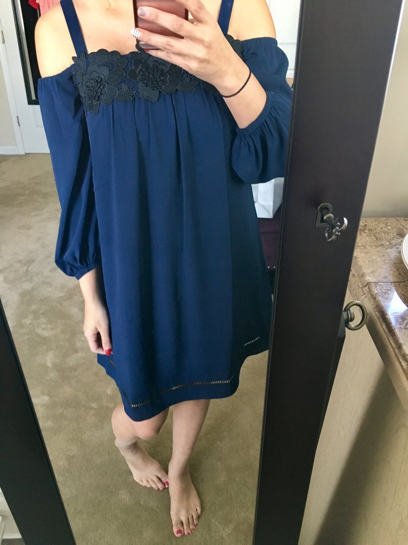 Trunk Club maternity, this Felicity & Coco dress is non-maternity but bump-friendly! Click to see the rest of this Trunk Club haul