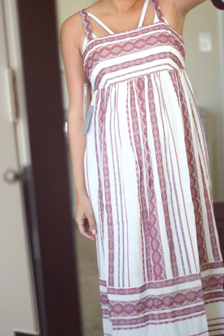 Maggy London Stripe sundress, see what else was inside my May trunk from Trunk Club!