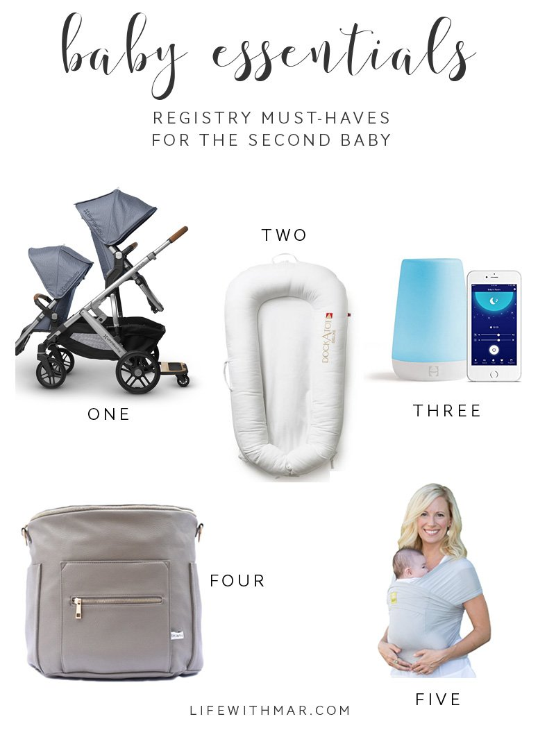 second baby must-haves, everything you need on your registry for the second baby