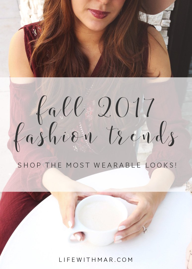 5 fall 2017 fashion trends, shop the most wearable looks!