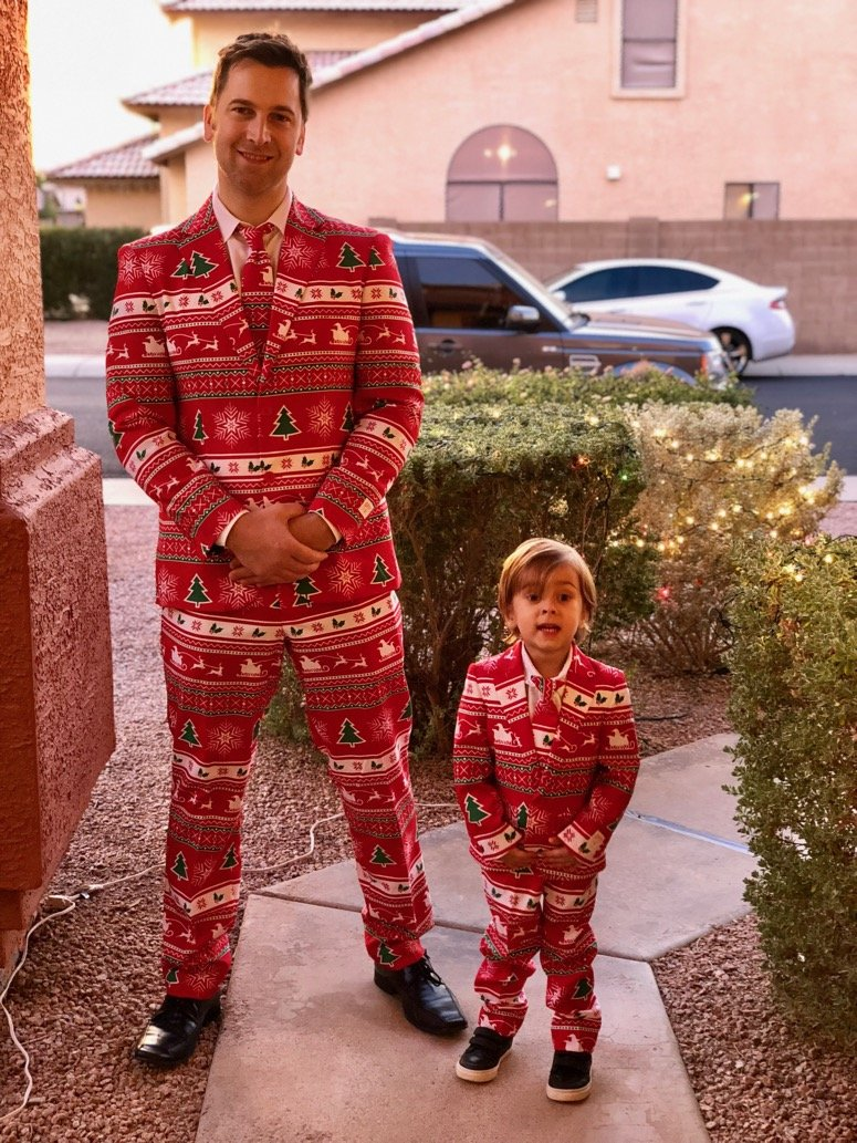 opposuits mens and boys Christmas suits