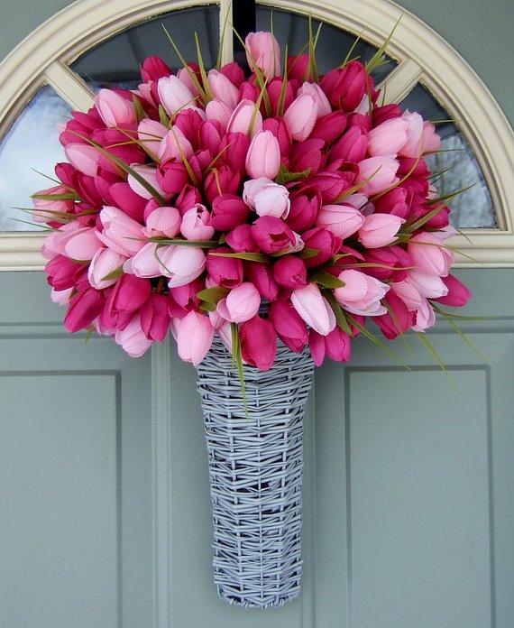 spring decorating ideas tulip wreath