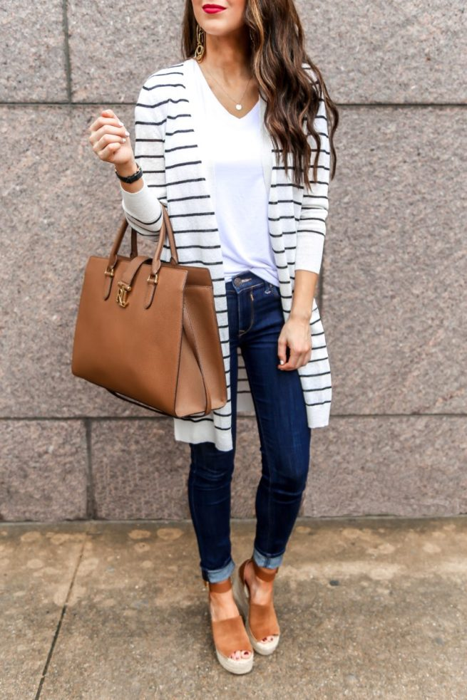 cute spring cardigan outfit
