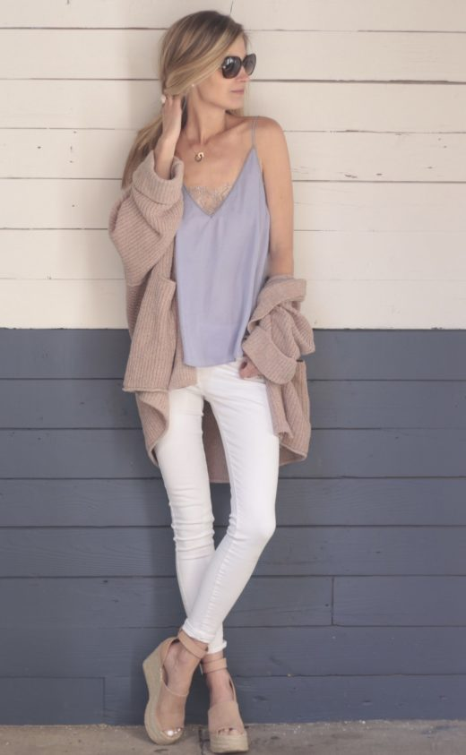 cute cardigan outfits for spring pastel outfit