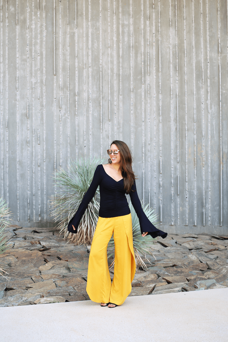 how to wear and style split leg pants