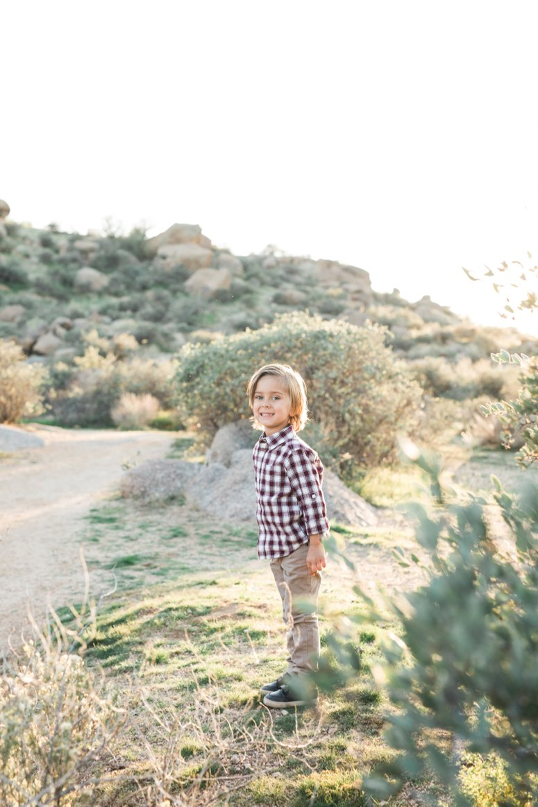 What to wear for family pictures outside | toddler standing in desert | lifewithmar.com