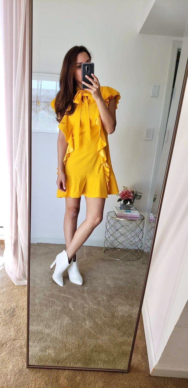 amazon fashion finds spring try on haul yellow dress