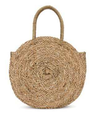 white company straw bag