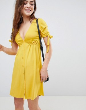 asos tie front dress