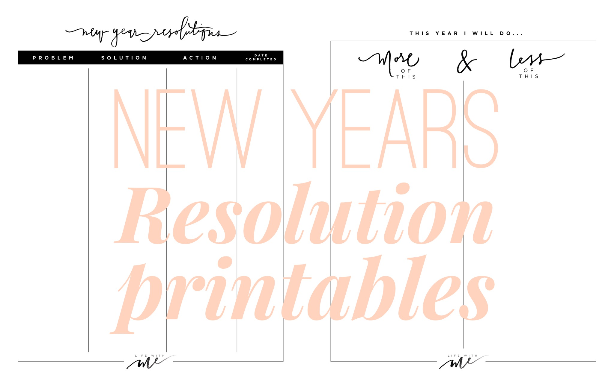 New Years Resolutions Printable Worksheets