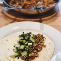 Shredded Hoisin Chicken Wraps