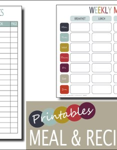 Weekly meal planner  recipe also template free printable family home rh lifewithmunchers