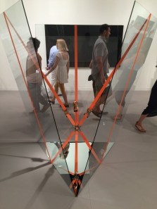 Cargo securement devices, known to truck drivers as ratchet straps, featured at Art Basel in Miami.