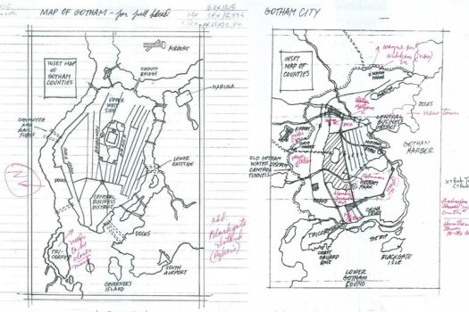 gotham city map sketches