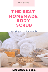 Homemade body scrubs