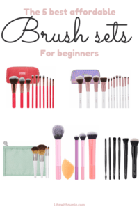 affordable makeup brush sets for beginners
