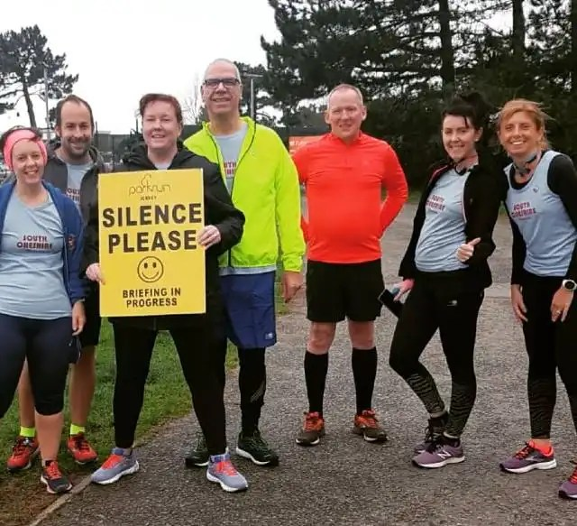 Parkrun alphabet challenge - Jersey group shot
