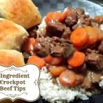 3 Ingredient Crockpot Beef Tips