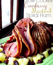 Slow Cooker Cranberry Honey Mustard Spiral Ham