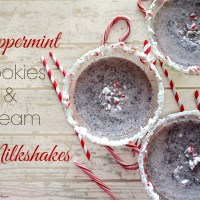 Peppermint Cookies and Cream Milkshakes