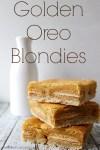 Golden Oreo Blondies