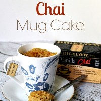 Vanilla Chai Mug Cake