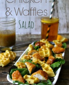 Chicken & Waffles Salad #TEArifficPairs #CollectiveBias