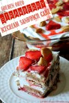 Golden Oreo Strawberry Ice Cream Sandwich Cake