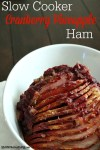 Slow Cooker Cranberry Pineapple Ham is the perfect holiday ham! Festive flavors and it cooks up beautifully in the slow cooker!