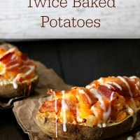 Bacon Ranch Twice Baked Potatoes