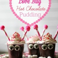 Love Bug Hot Chocolate Pudding Cups