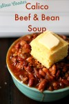 Slow Cooker Calico Beef & Bean Soup