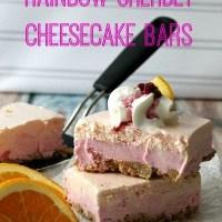 No Bake Sherbet Cheesecake Bars