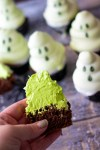 Ghost Hi Hat Cupcakes have a fun surprise inside!! Bite into the spooky ghosts to reveal a green marshmallow frosting inside! So much fun!