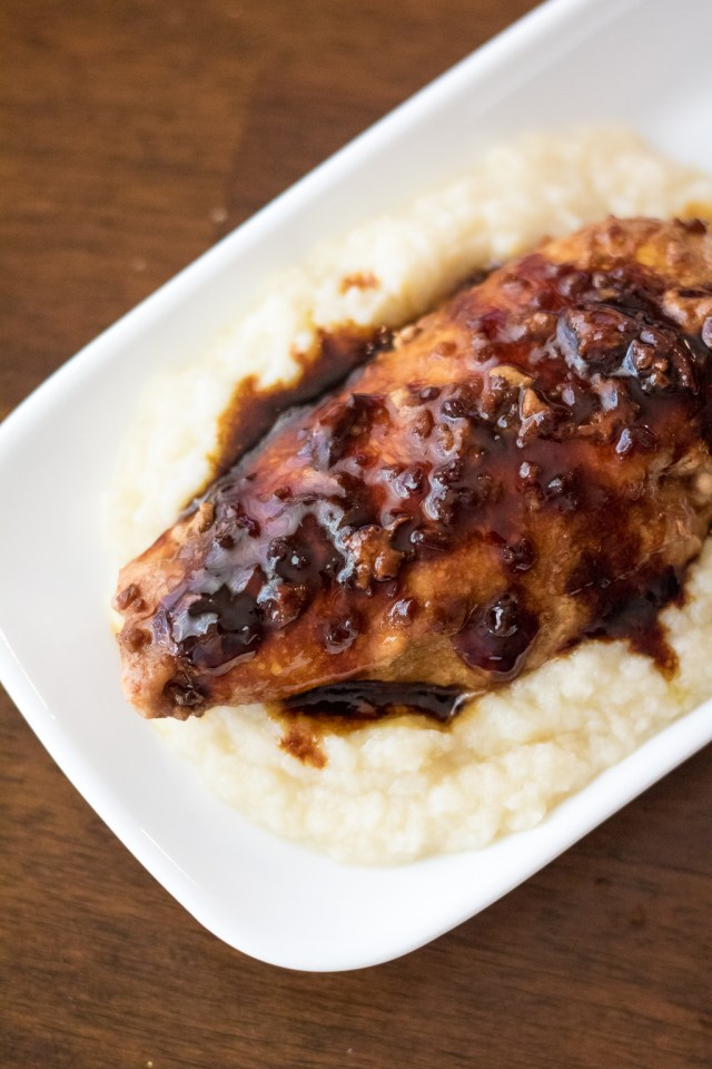 Molasses Chicken BReast with cauliflower (1 of 1)