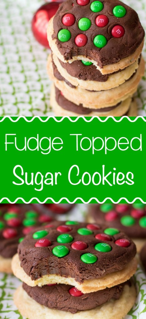 Fudge Topped Sugar Cookies