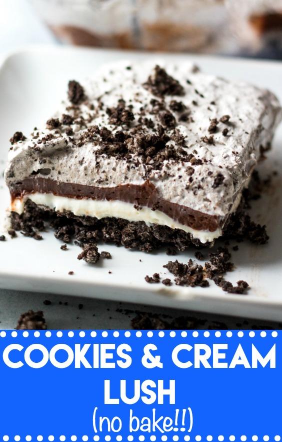 Cookies Cream Lush the ULTIMATE no bake dessert